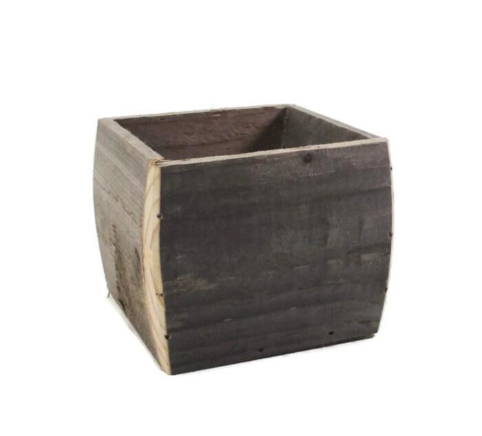 Wood Centerpiece Planter Box : Reclaimed wood planter box centerpiece home garden and
