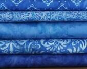 Hoffman Bali Batik Blue Cotton Fabric 1 Yard