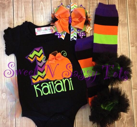 Items Similar To Pumpkin First Birthday Design--Little