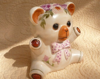 Hand Painted Baby Bear Bank