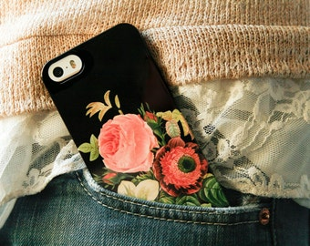 Phone Case iPhone 8 Plus Floral iPhone X Case Vintage Bouquet iPhone 7 Plus Case 6S, SE, Galaxy S8 Valentine's Day Gift for Girlfriend, Wife