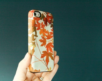 Fall iPhone 6S Case, Fall Leaves iPhone 6S Plus Case Autumn iPhone Fall Foliage iPhone 7 Case Autumnal Colors iPhone SE Case Rust Orange Red