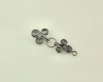Bali Sterling Silver Hook Clasp - Spiral Hook Clasp