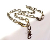 24 inch Antique Brass Oval Link Purse Chain New Style