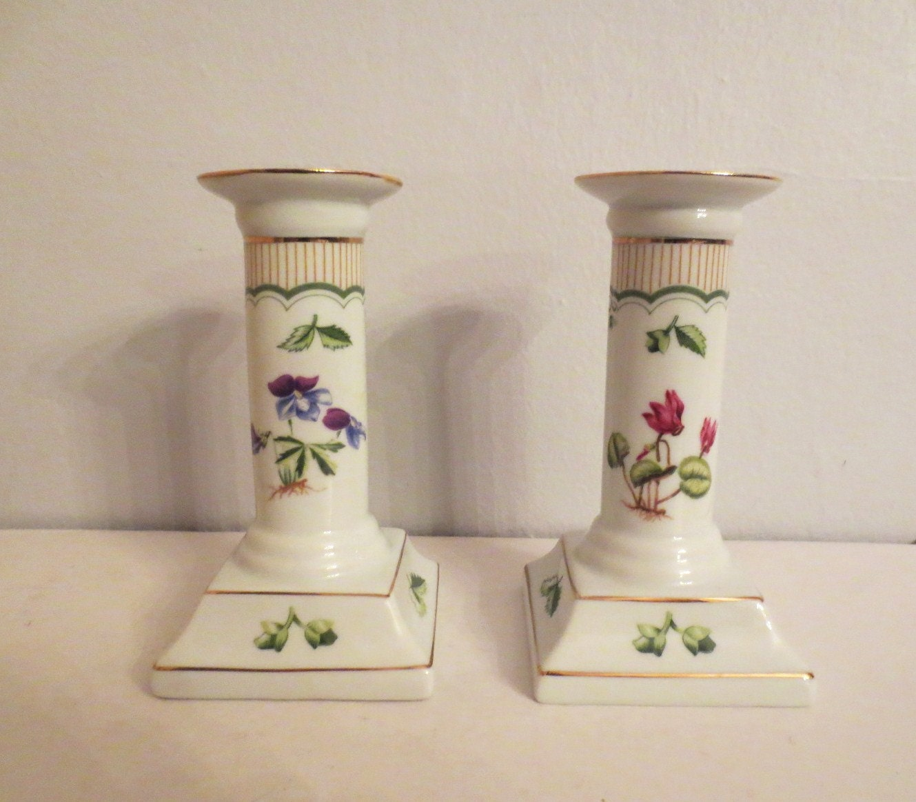 Candle Holders George Briard Victorian Garden Candleholders