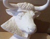 Bull Bust Ceramic Ready to paint with any craft paint