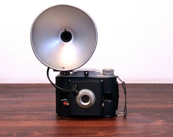Vintage Ansco Flash Clipper Camera with Original Leather Case