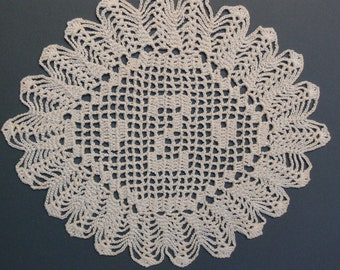 "Custom Crocheted Initial Doily  ""Z"""