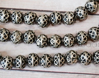 Rustic Handmade Moroccan Silver 8mm beads