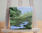 Little Creek Miniature Painting in Acrylic with Free US Shipping