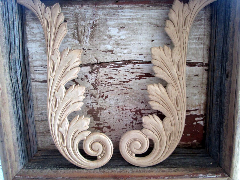 Wood Wooden Furniture Applique Pair Molding By Holliezhobbiez