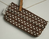 Reusable eco friendly washable Snack Bag - safety pins on brown