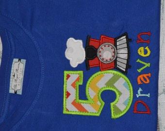 PERSONALIZED Train Birthday Shirt  Monogrammed 1, 2, 3, 4, 5, birthday