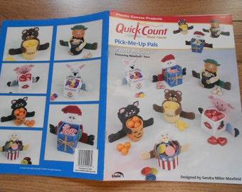 1999 plastic canvas patterns Pick Me Up Pals treat baskets children favors shower seasonal