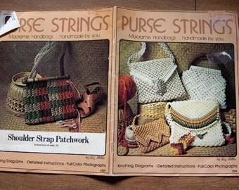 vintage 70s macrame patterns MACRAME PURSE STRINGS