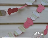 Onesie Paper Garland - Weddings - Baby Shower - Party Decoration - Birthday Party - Anniversary - Business Event