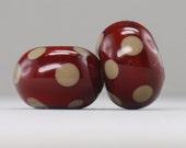 Earring Pair - 2 handmade lampwork beads - E 101
