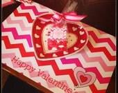 Paper Placemats - Valentine Chevron - Set of 12