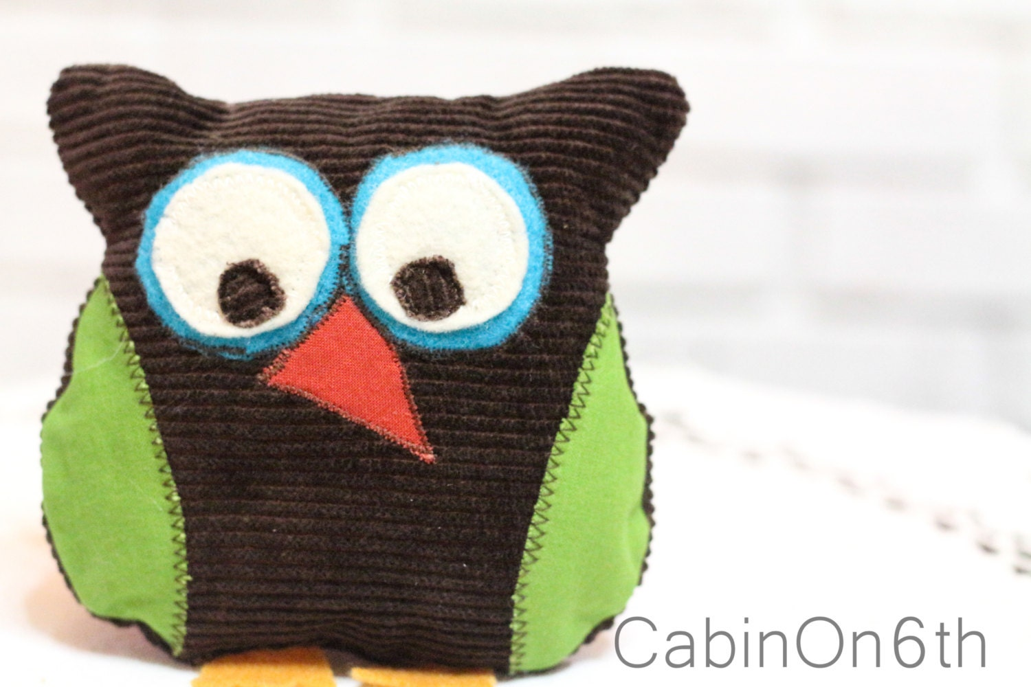 Vintage Owl Plush Stuffed Animal