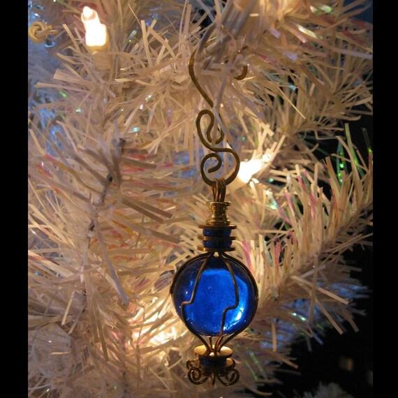 Cobalt Blue Ornament Small Glass Suncatcher Outdoor Ornament