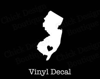 New JerseyHeart Silhouette Vinyl Decal