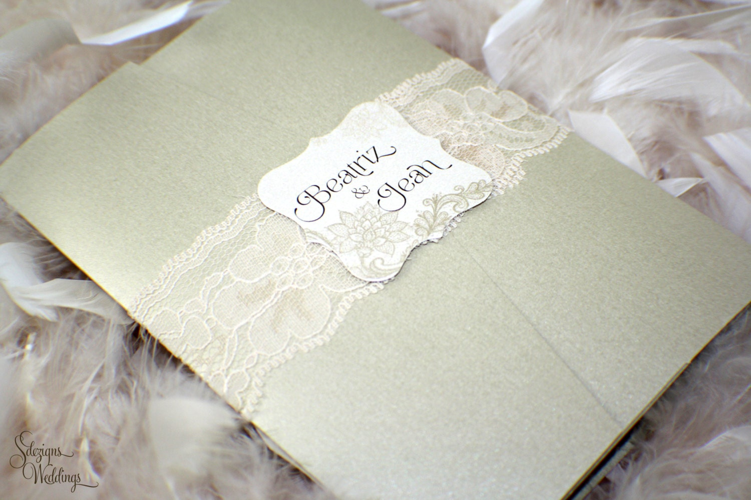 Gorgeous Wedding Invitations: Beautiful Lace Wedding Invitations By SDezigns On Etsy