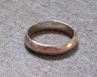 Vintage Sterling Silver Ring Band Size 8.5, Sterling Wedding Band