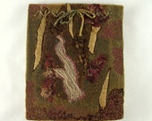 Rustic Autumn Sketch Book - machine embroidery - one of a kind