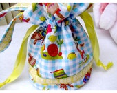 Girls Easter Drawstring Purse, Easter Bag, Spring Drawstring Purse, Child's Easter Bag