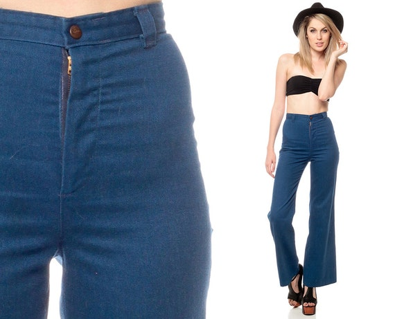 70s BELL BOTTOMs Pants DITTOS Jeans High Waisted Trouser