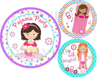 Pajama Party, Printable, Decoration, Birthday,Slumber Party, Sleep Over Party, Sleepover Birthday,  Sleepover printables, INSTANT DONWLOAD