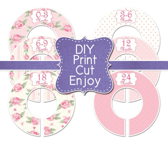 Pdf printable diy baby closet dividers clothes by for Clothes divider template