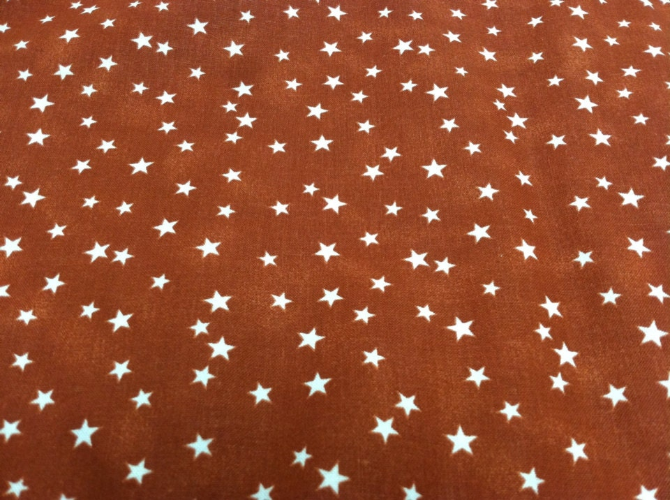 Star print fabric brown by theuntangledthread on etsy for Star fabric australia