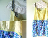 2XL Payran-Plus Size Clothes /Womens Dresses/Eco Dress / Tattered Artsy Dress / Upcycled Clothing by Unicycle Assembly