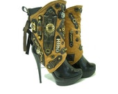 Steampunk Style - Spats -  Unique -  Sexy , Rustic- Feminine by J Souza-FREE Shipping
