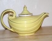 Vintage Hall Aladdin Yellow Teapot, Lid and Infuser