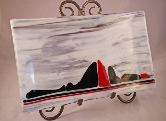 Smoke on the Mountains Fused Glass Dish