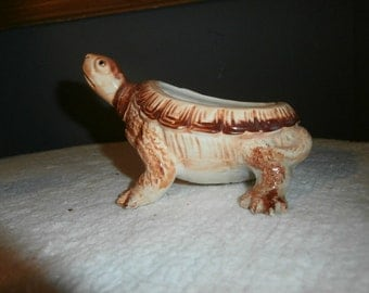Planter Turtle Ceramic Turtle Planter-  Plant Trinket  Bowl  Figurine