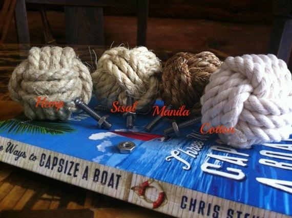 Nautical Decor - 8 Nautical Doorknobs  - Manila, Hemp, Sisal or Cotton Rope - Rope Drawer Pulls