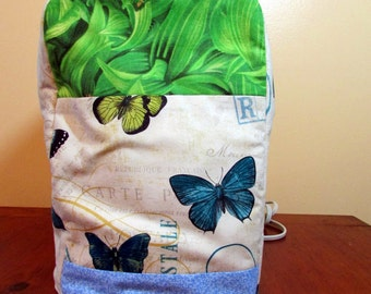 Lime/Aqua/blue Butterfly Keurig Cover-fits Personal-great gift for coffee,tea, and hot cocoa lover