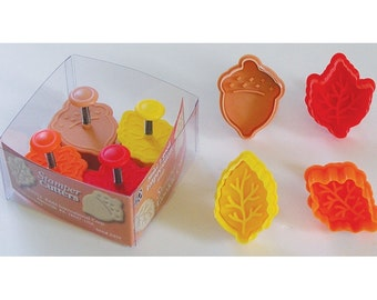 """You Pick Stampers set Pastry fondant or cookie cutters with plunger stamp 2"""" snowflakes, Christmas, fall leaves, general"""