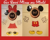 Mickey and Minnie Mouse Body Part Stateroom Door Magnets for Disney Cruise Get Both