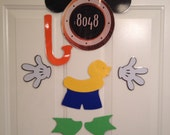 Swimming Beach Mickey Mouse Body Part Stateroom Door Magnets for Disney Cruise