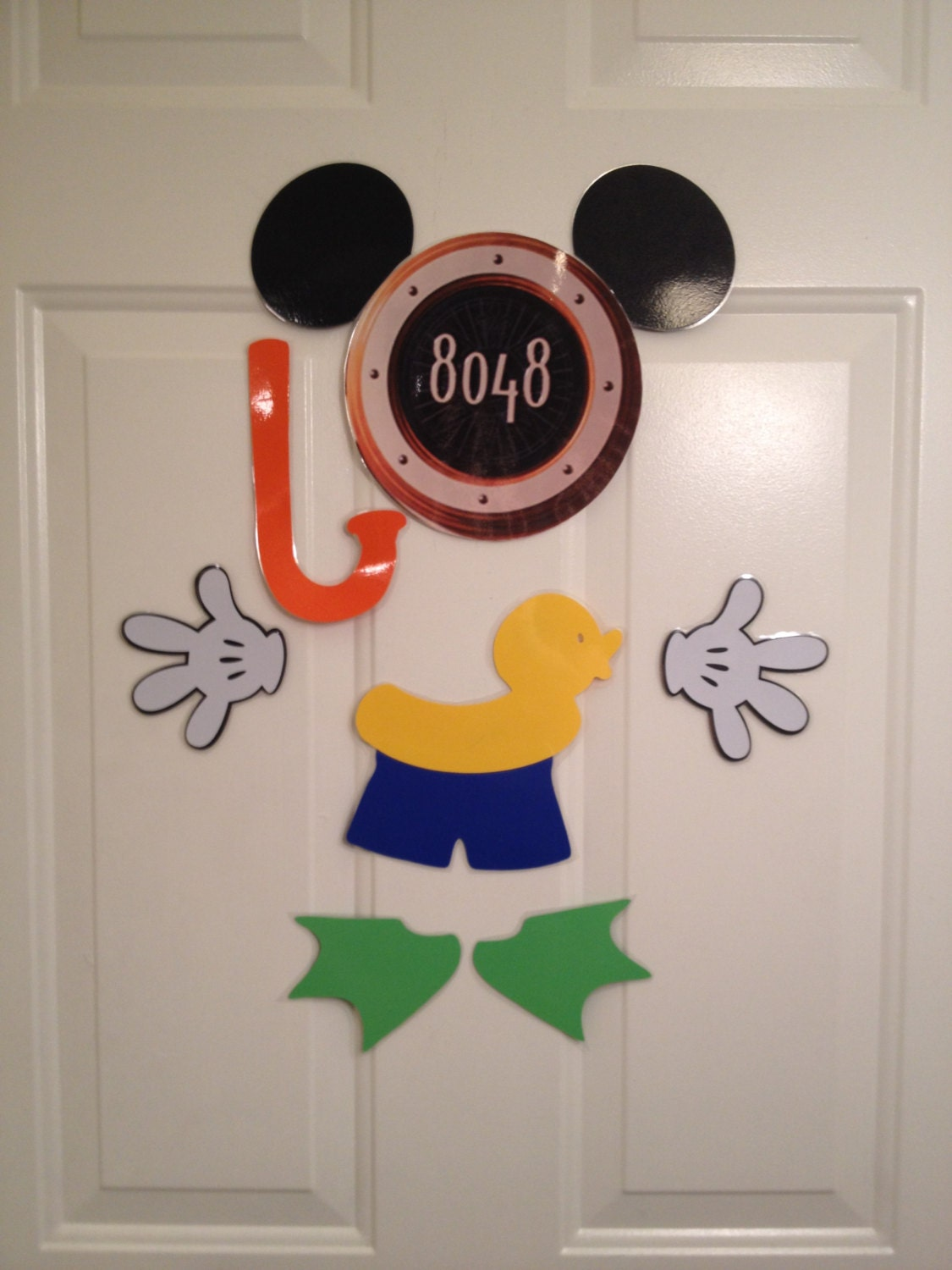 Swimming Beach Mickey Mouse Body Part Stateroom Door Magnets