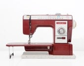 Vintage Royal Electra XL 6000 Cherry Red Sewing Machine