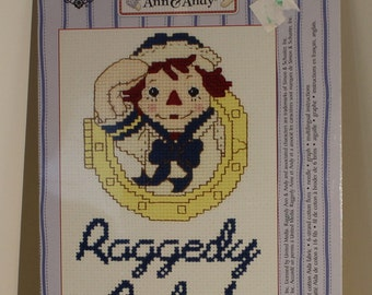 Raggedy Andy Ahoy Counted Cross Stitch Kit