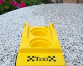 Vintage Little People Yellow and Black  Taxi cab car