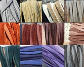 Hand Cut Deer Buckskin Lace- 1/4 Inch Wide- Choice of Leather Color