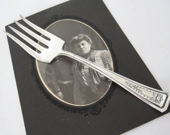 Antique Cold Meat Serving Fork, by American Silver Co.