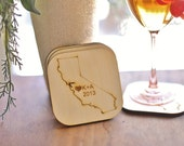 Personalized Coasters Wedding Favors Rustic Chic Wedding Southern Charm
